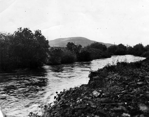 Undated photo of Ballona Creek. Courtesy of the Herald-Examiner Collection, Los Angeles Public Library.