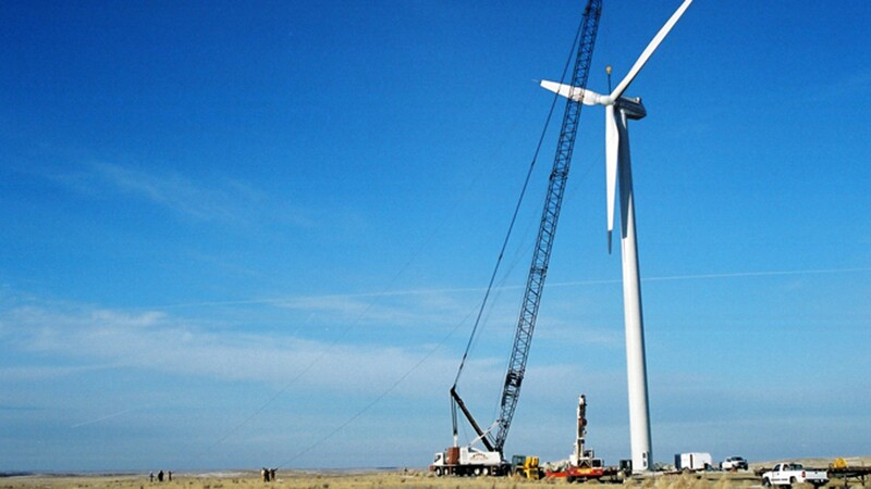 The Alex Little Soldier wind turbine on the Rosebud Reservation, the Great Plains' only large-scale tribal wind turbine | Photo: Native Energy