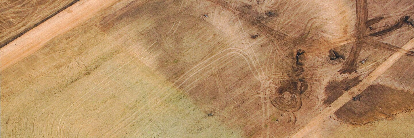 Aerial Photo of Cornfield Land