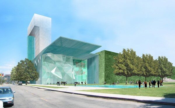 Steven Holl's 2002 design for the county Natural History Museum. Courtesy of Steven Holl Architects.