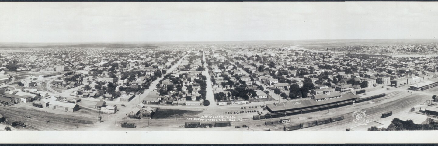 Panoramic view, City of Laredo and Nuevo Laredo, Mexico. (1920) | Prints and Photographs Division, Library of Congress