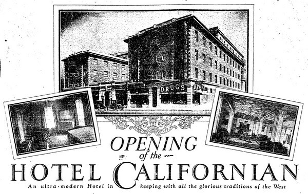 Ad from L.A. Times dated April 1, 1925