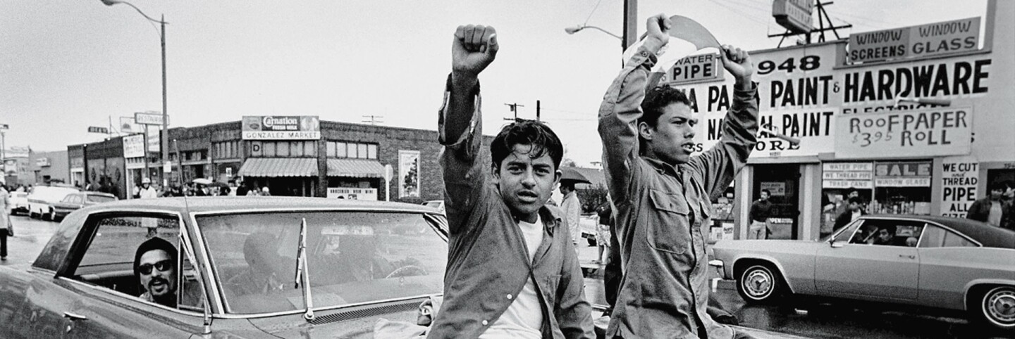 National Chicano Moratorium Committee march protesters demonstrating against the Vietnam War. Los Angeles, CA, 1970. | David Fenton/Getty Images