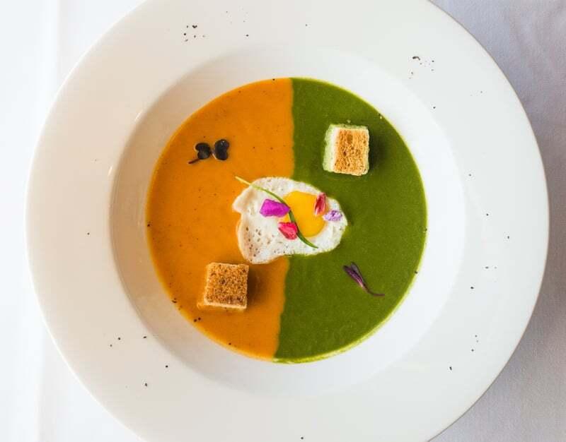 LA Mexicano Babita Roasted Papaya and Cilantro Soups | Staci Valentine