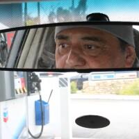 Ruben Gonzalez, uber driver, driving