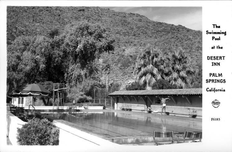 The Swimming Pool at the Desert Inn Palm Springs