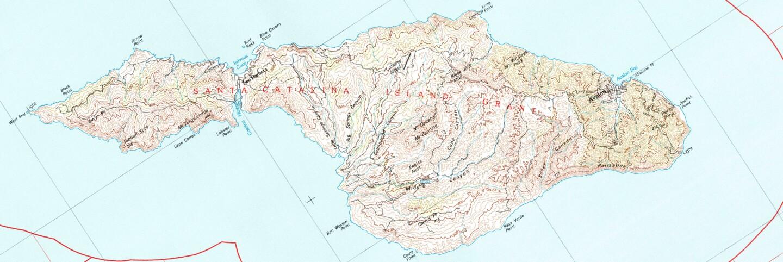USGS topographic map of Santa Catalina Island (1981)