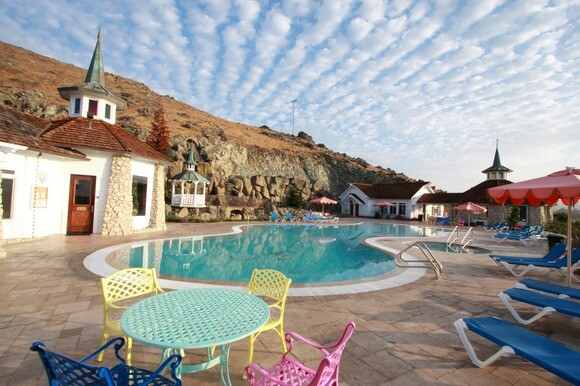 The Pool & Fitness Center at the Madonna Inn in San Luis Obispo. | Photo: Courtesy of Madonna Inn.