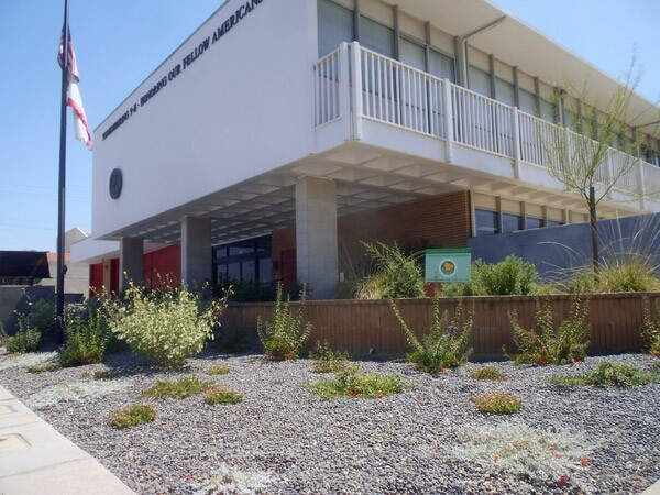 This landscaped native plant garden grows outside the headquarters of the Alhambra Fire Department in Alhambra.