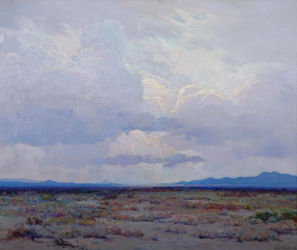 "John Frost, ""Desert Twilight,"" oil on canvas, 1924, (Gardena High School Class of Winter 1928)."