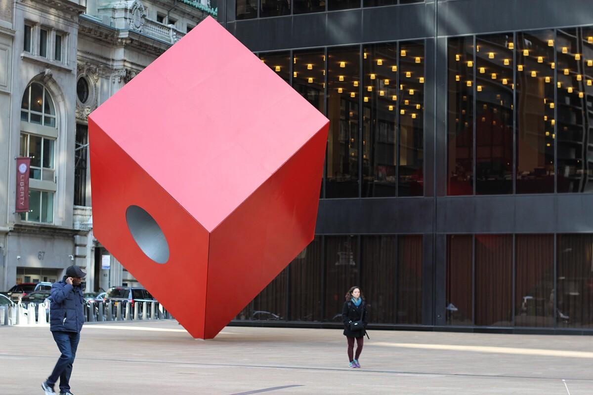Isamu Noguchi's Red Cube   Shinya Suzuki/Flickr/Creative Commons (CC BY-ND 2.0)