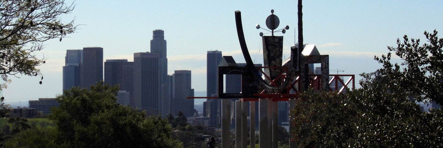 "Elysian Park's ""Frank Glass and Grace E. Simons Memorial Sculpture"" by Peter Shire 