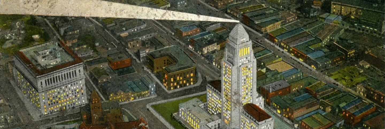 Los Angeles City Hall at Night, circa 1930s