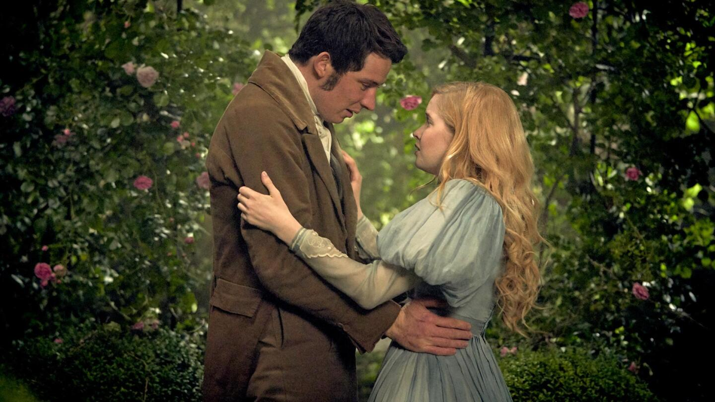 "Cosette and Marius hold each other. | From ""Les Miserables On Masterpiece"""