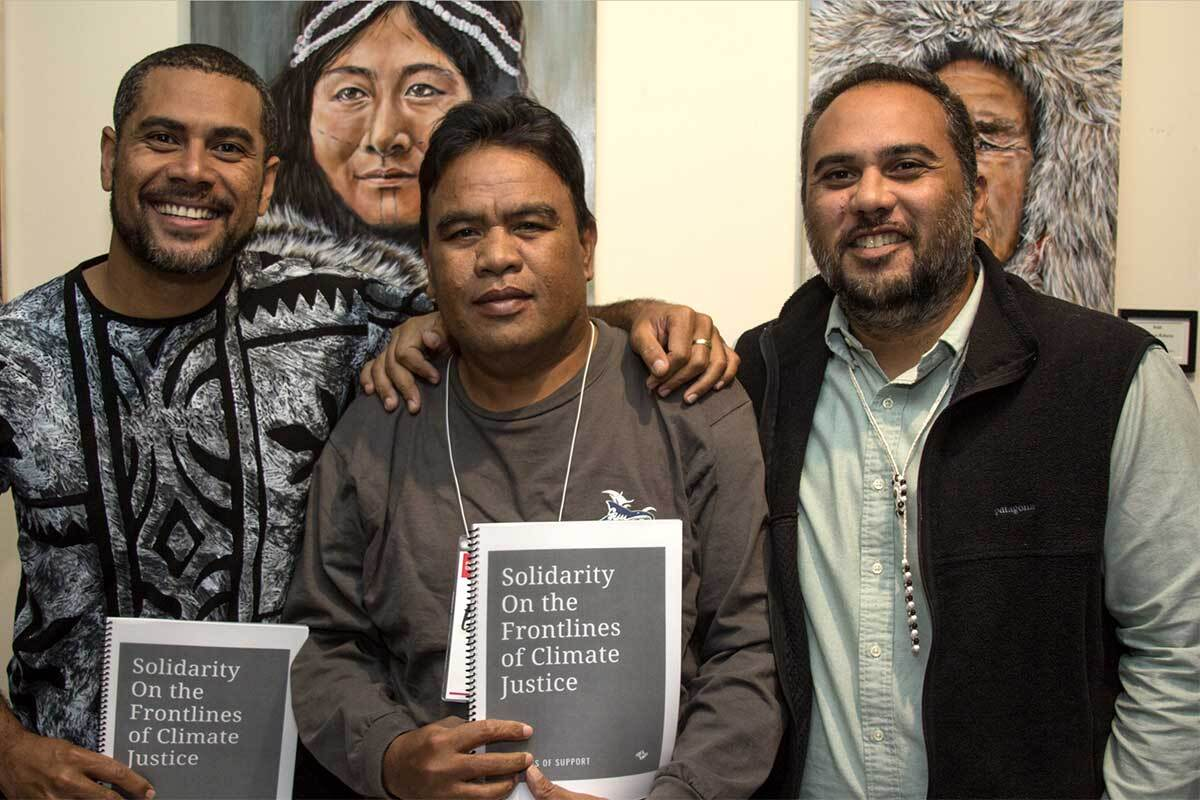 Members of the First Peoples' Convening on Climate Forced Displacement, which took place in October 2018. | Rob Stapleton, Creative Commons