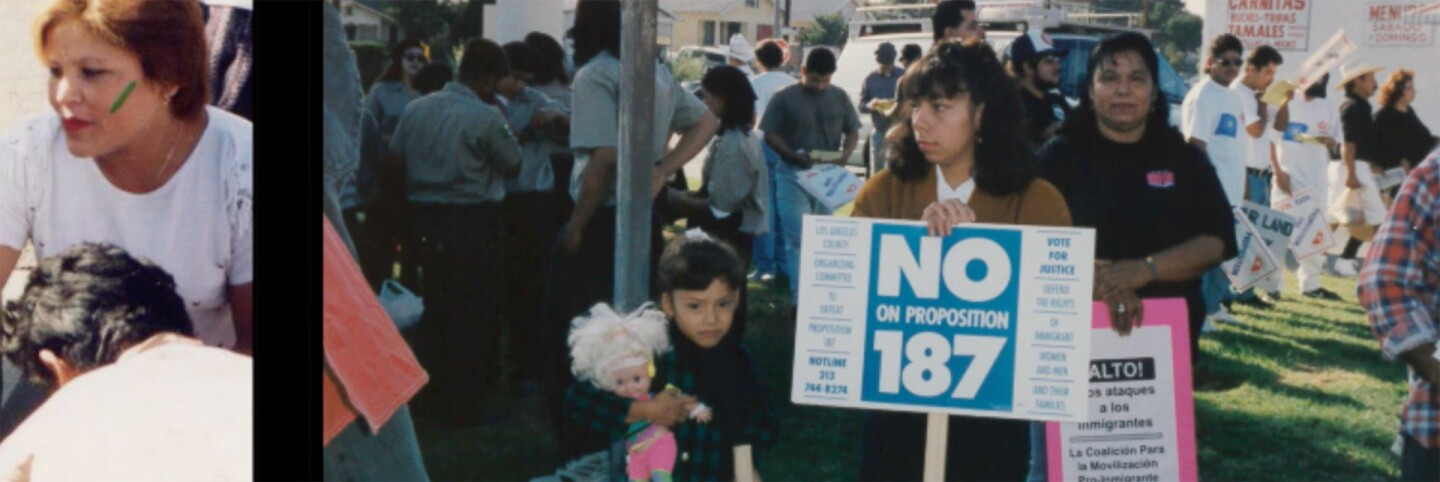 """A few frames of 187 protests 