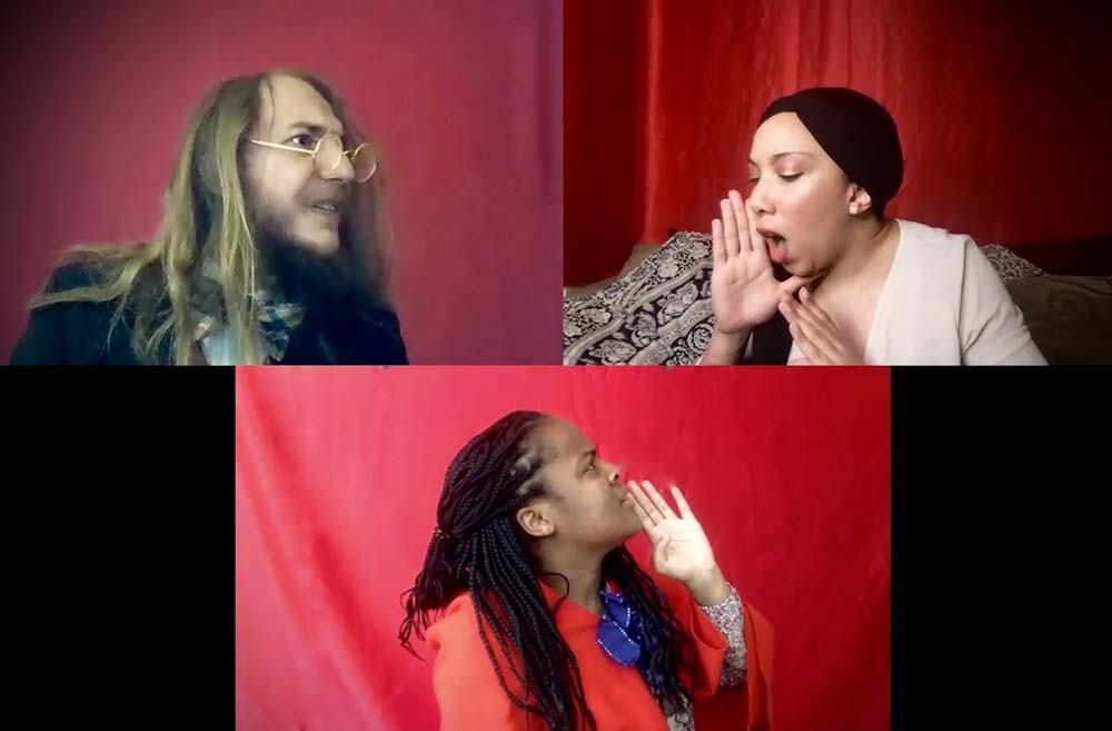 The Wallis Studio Ensemble presents Fairyland Foibles, featuring (clockwise from upper left) Alexander Sheldon, Tiana Randall Quant, Kendell Byrd | M. Dahm