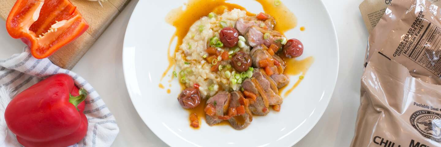 Jambalaya Risotto with Duo of Duck | Carla Choy