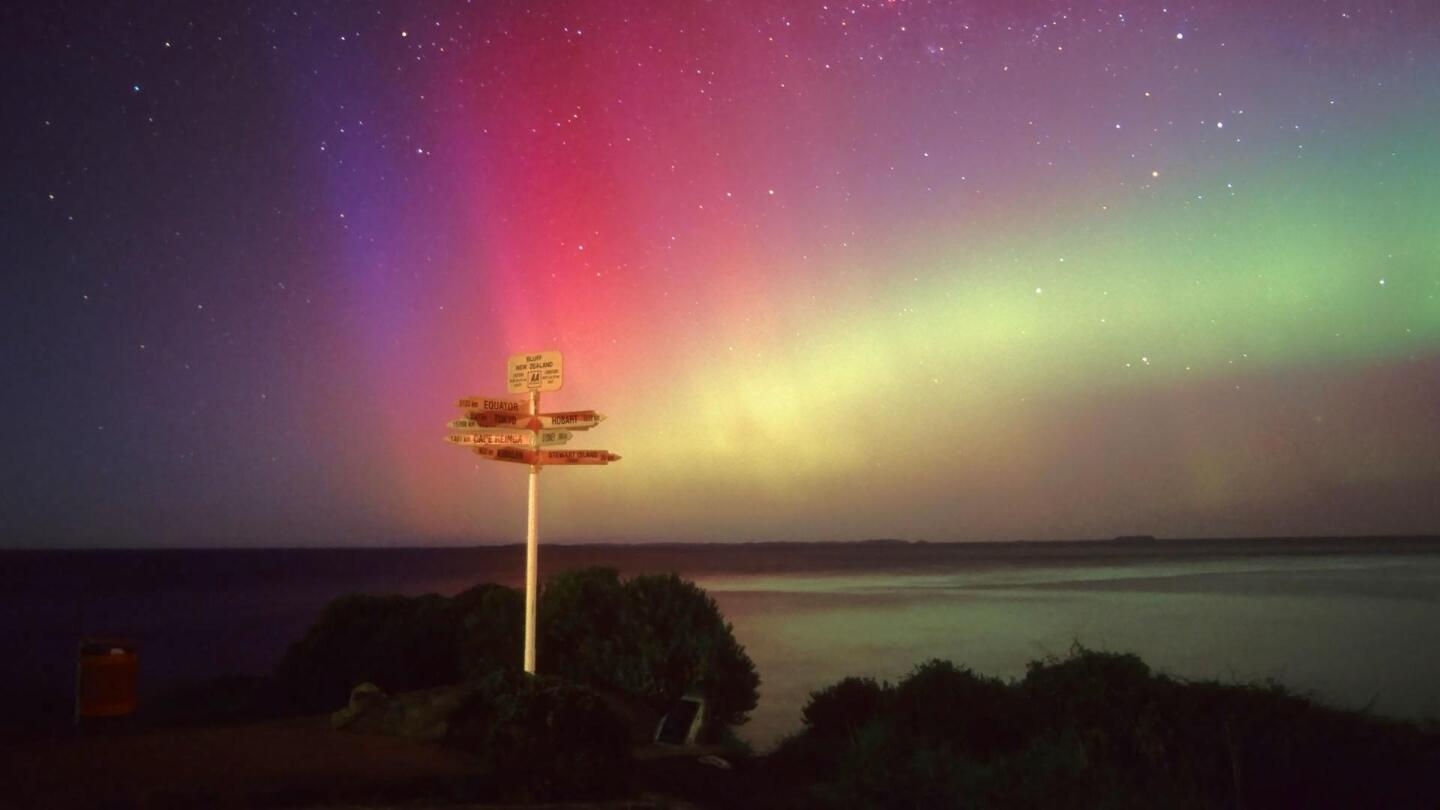 The aurora, the colorful glow that often brightens the night sky in Earth's polar regions.
