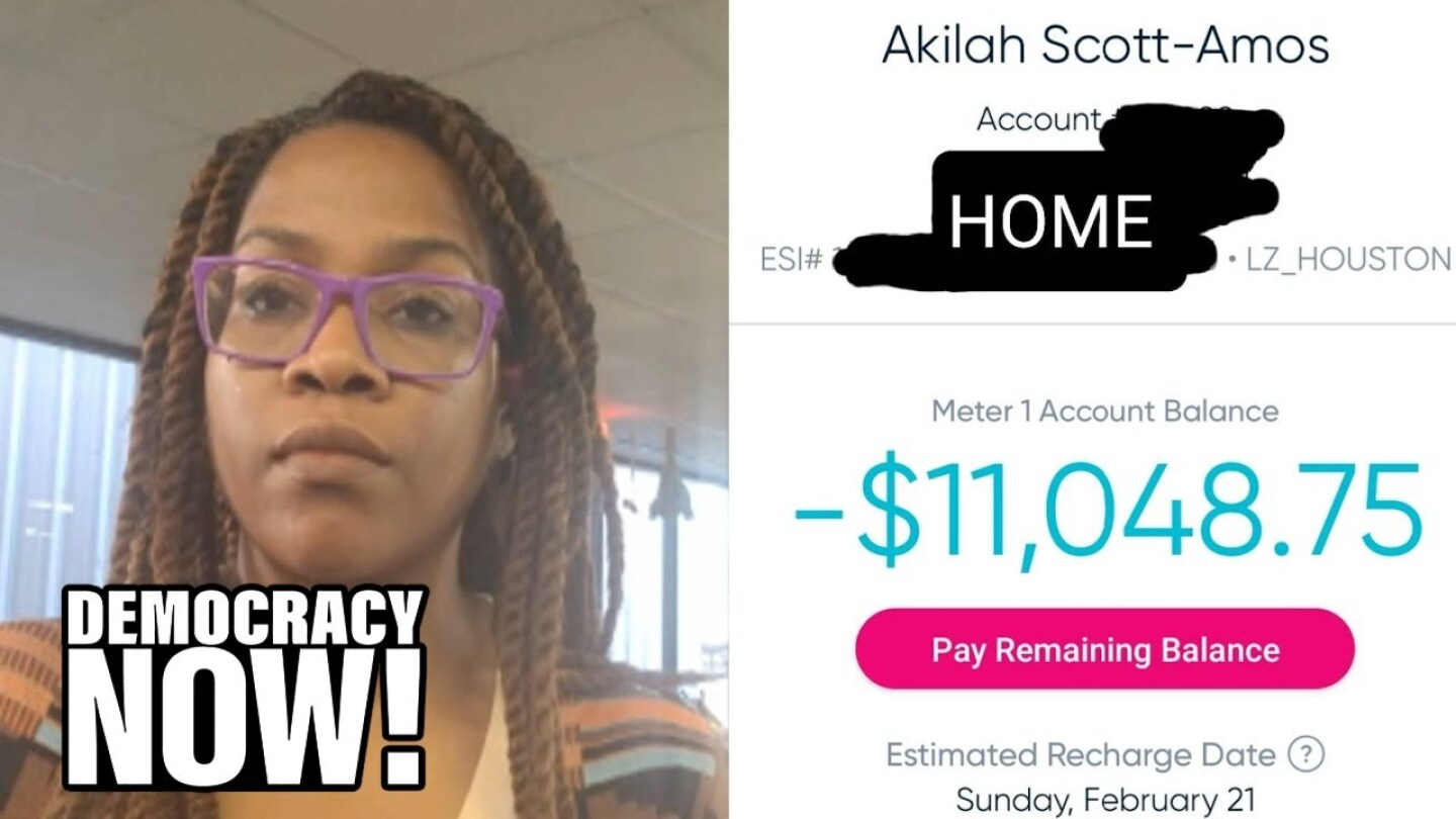 Texas homeowner Akilah Scott-Amos and her energy bill.