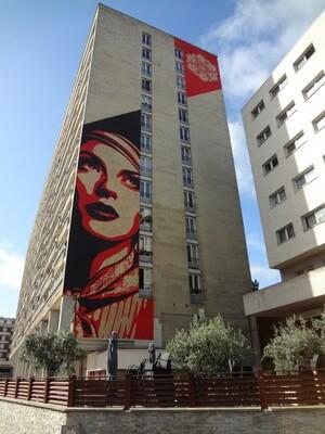 Shepard Fairey (Los Angeles, CA) at 13th arrondissement of Paris