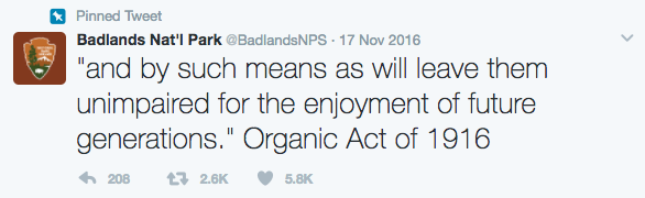 Deleted controversial tweet quoting a 1916 federal law