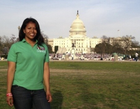 Organizer Dayana Molina at The Time Is Now Immigration Rally, Washington, D.C., 2013
