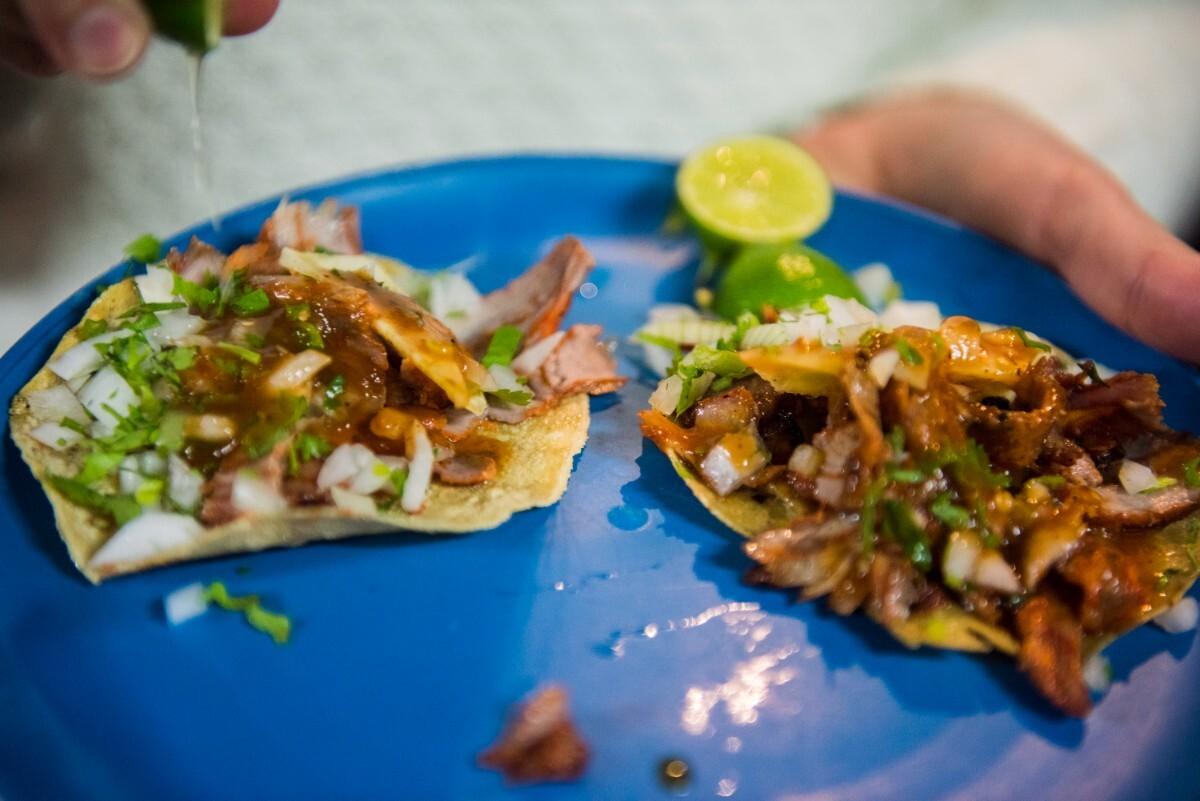 Tacos al pastor at Vilsito, a taquería in Mexico City | Ana Tello/Eat Mexico