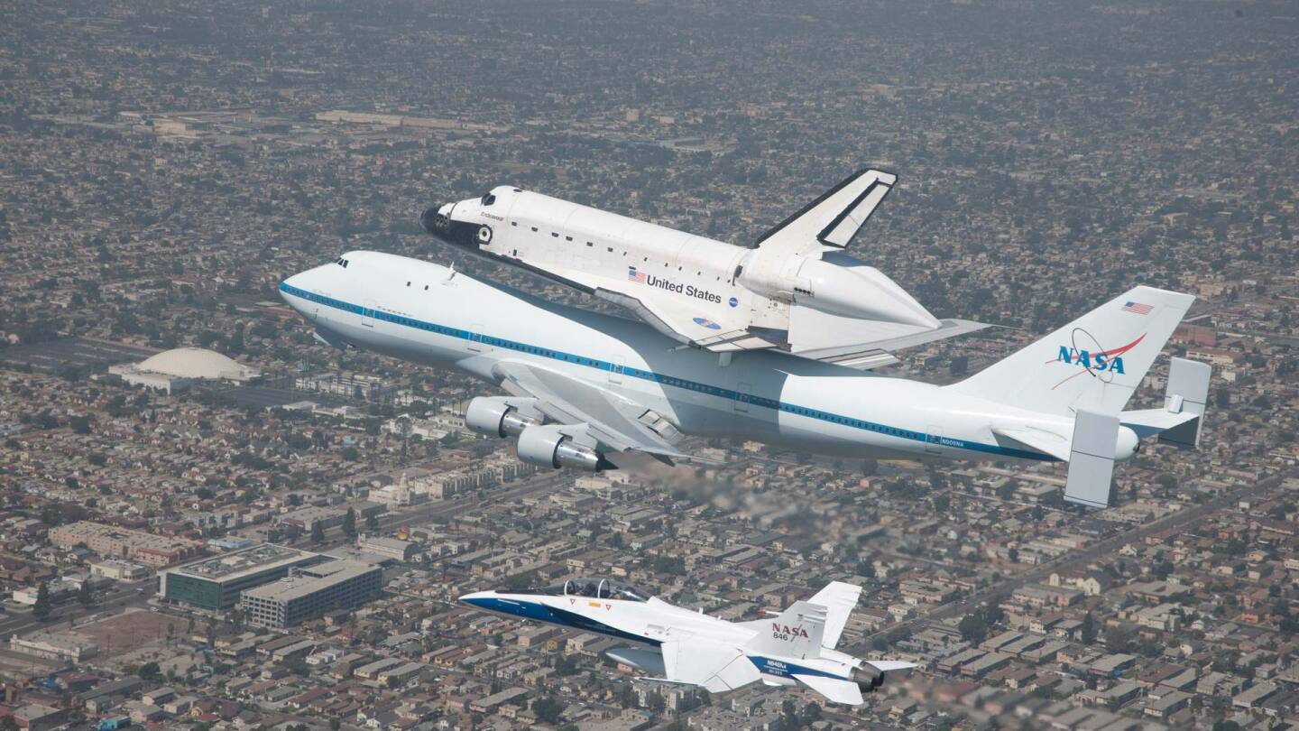 Space Shuttle Endeavour arrives to its final home in Los Angeles, c. 2012 | Courtesy NASA