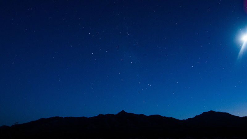 Even when washed out by a bright moon, the stars at Kelso Dunes are quite beautiful.