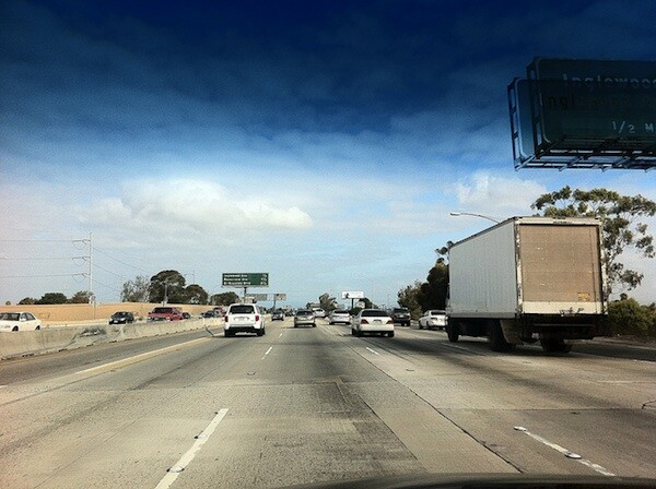 'Awesome. Zero traffic on the 405N. Carmageddon should happen more often,' wrote Flickr user i be GINZ when snapping this photo today.