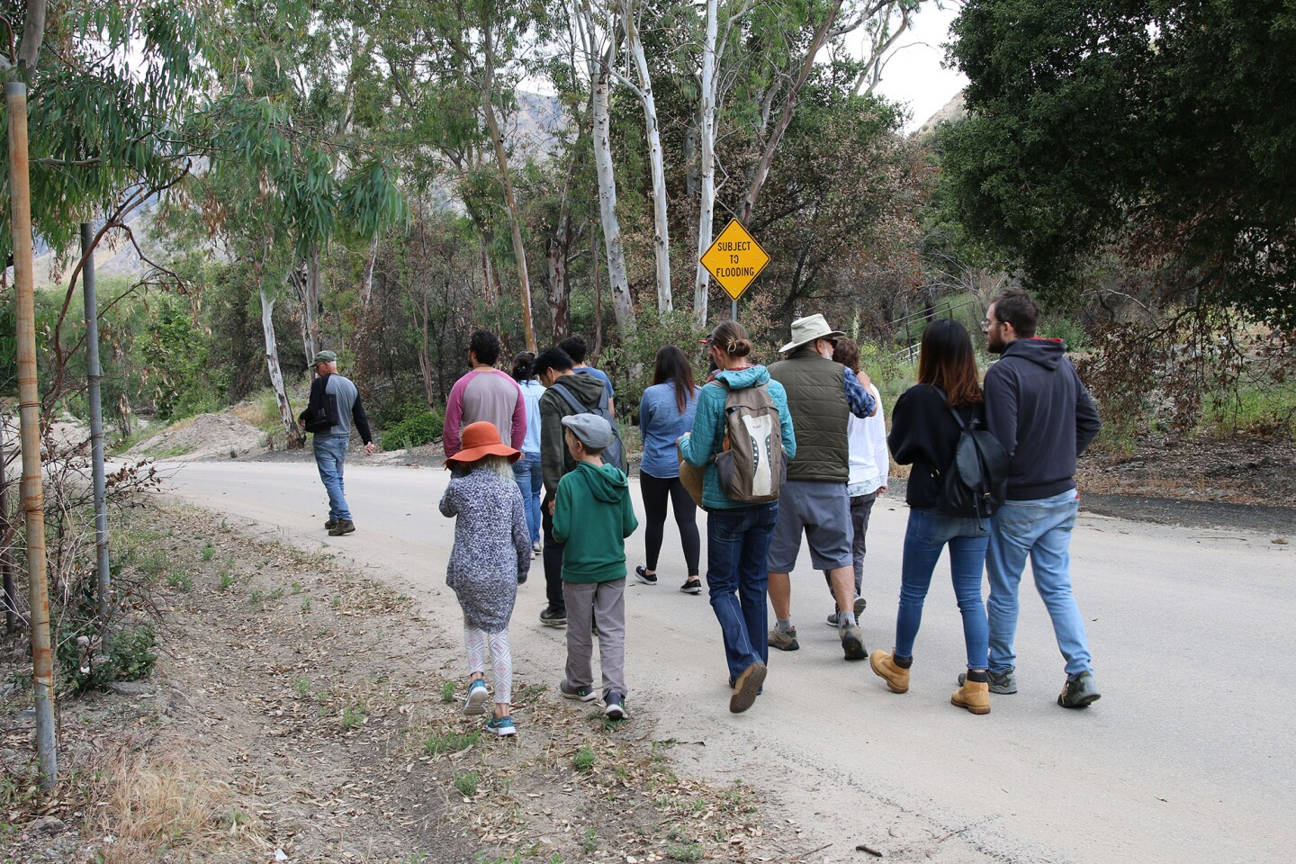 Baudar leads a group on his Wild Food Tasting and Plant Walk in the hills outside Los Angeles I Camille Frazier