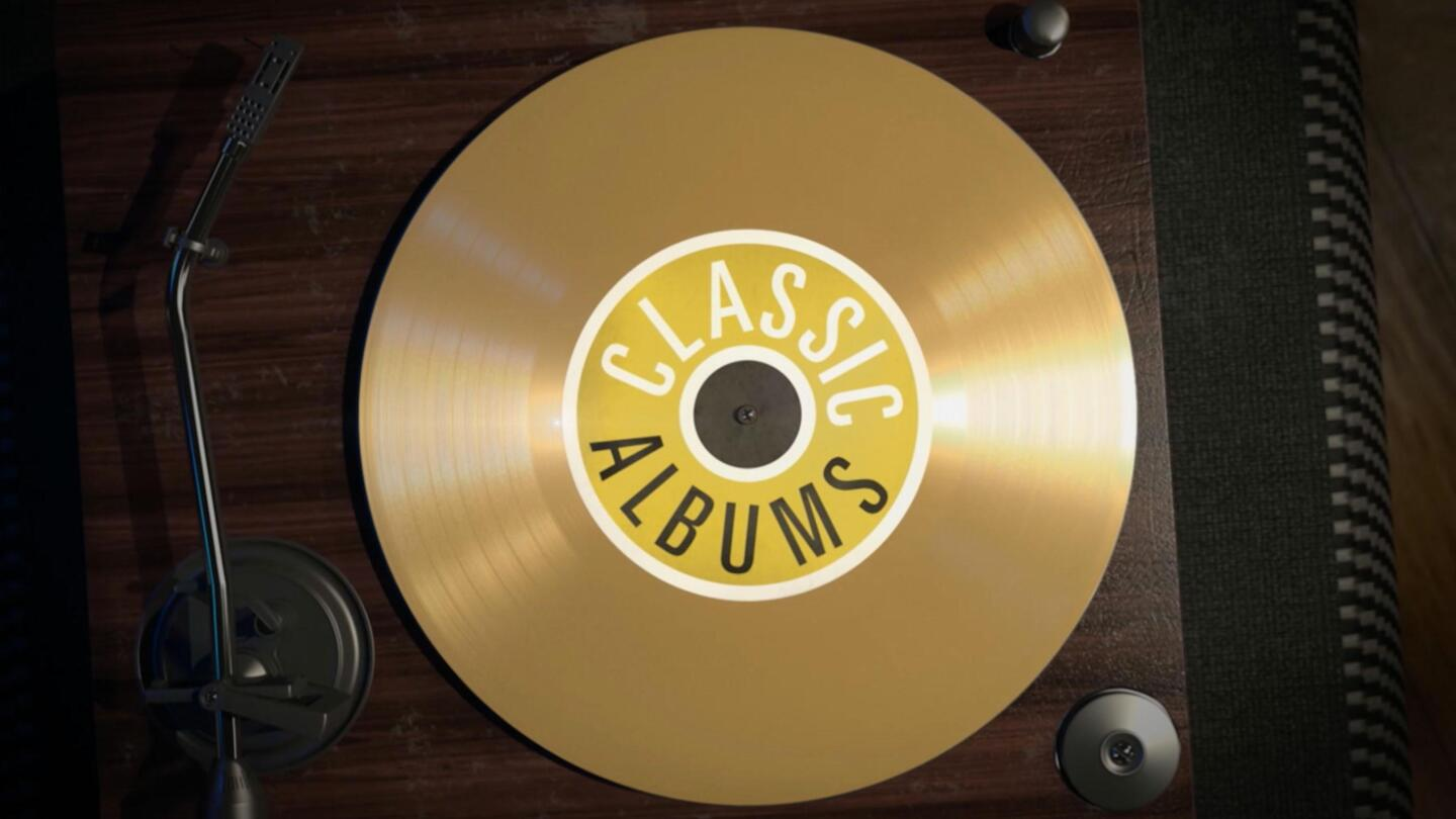 """Key Art for """"Classic Albums"""" depicting a vinyl album on a turntable."""