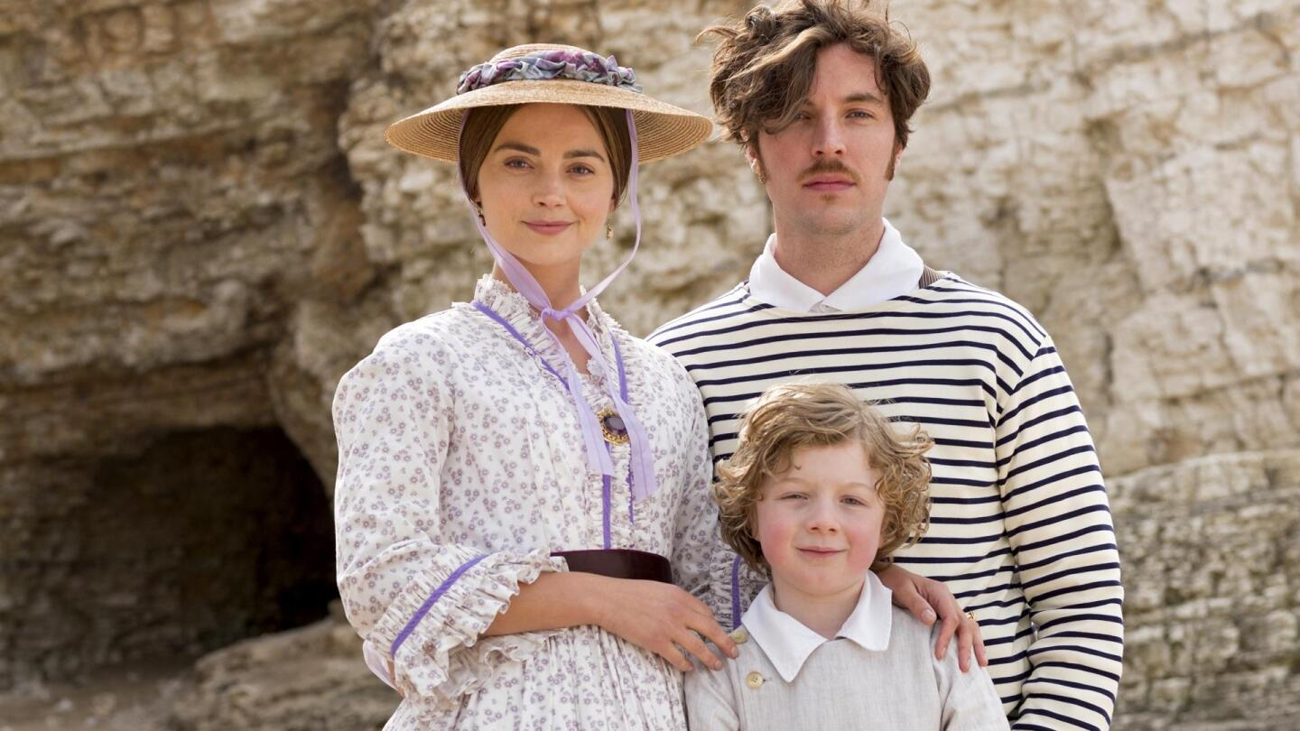 "Queen Victoria (Jenna Coleman) and Prince Albert (Tom Hughes) pose with their son Albert Edward. | ""Victoria Season 3 on Masterpiece: Et in Arcadia"""
