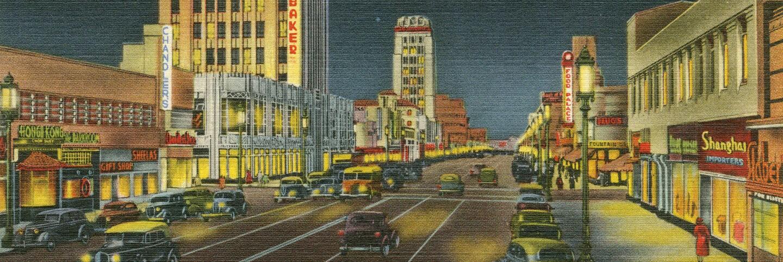 Postcard: Miracle Mile at Night (header)