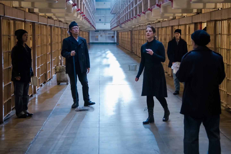 """Filming """"Vireo"""" in Alcatraz. Photo: David Soderlund"""