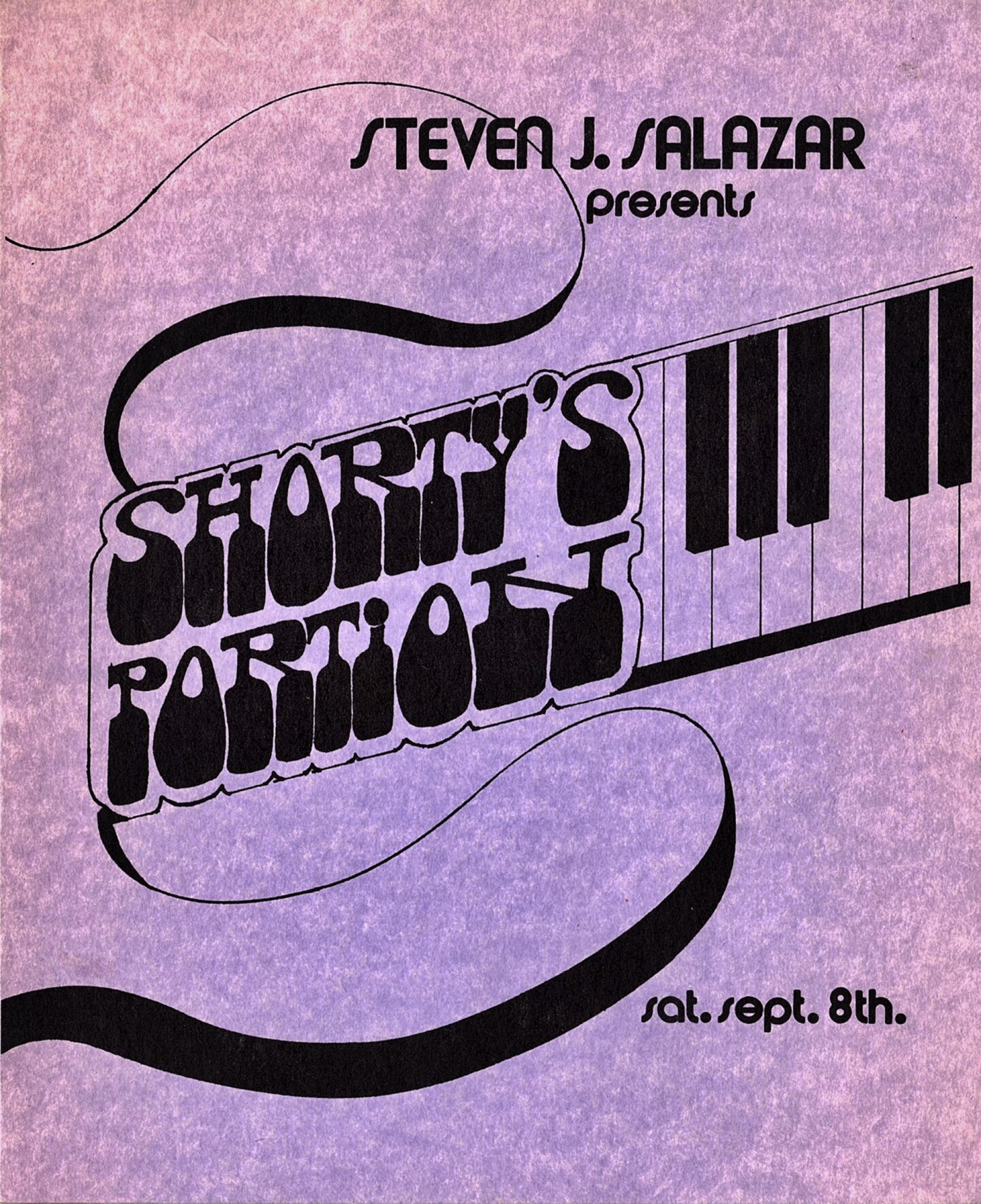 Program cover for Steven J. Salazar's 1973 San Gabriel Civic Auditorium performance.