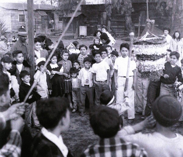 In response to the demand of a booming agricultural industry, Mexican and Asian laborers formed camps or barrios, such as Hicks Camp in El Monte. Photo courtesy of La Historia Society.