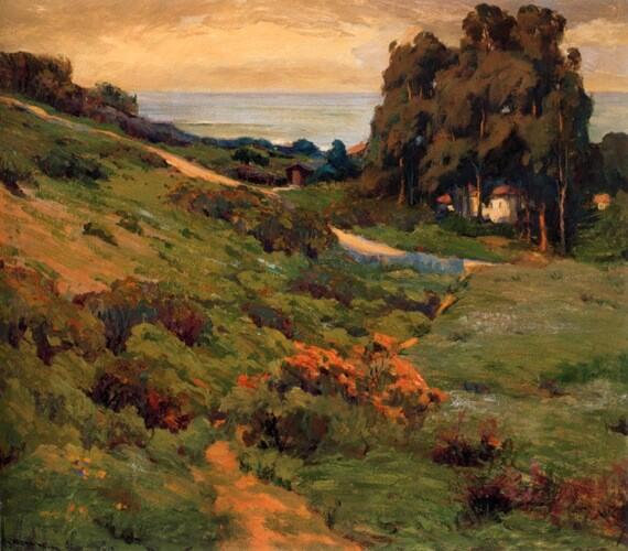''Arch Beach, Laguna Beach'' Jean Mannheim
