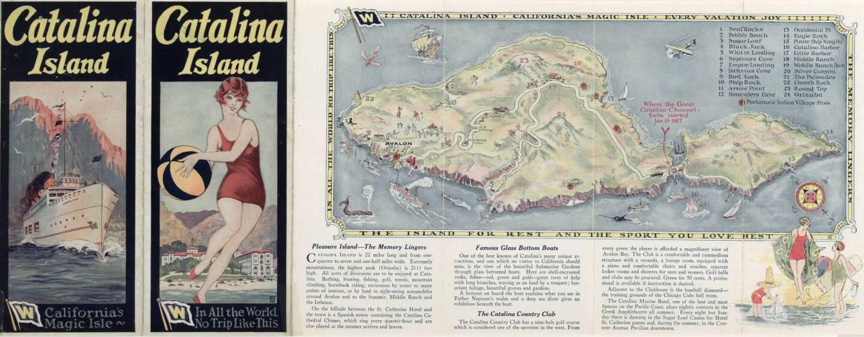 Catalina Island travel brochure