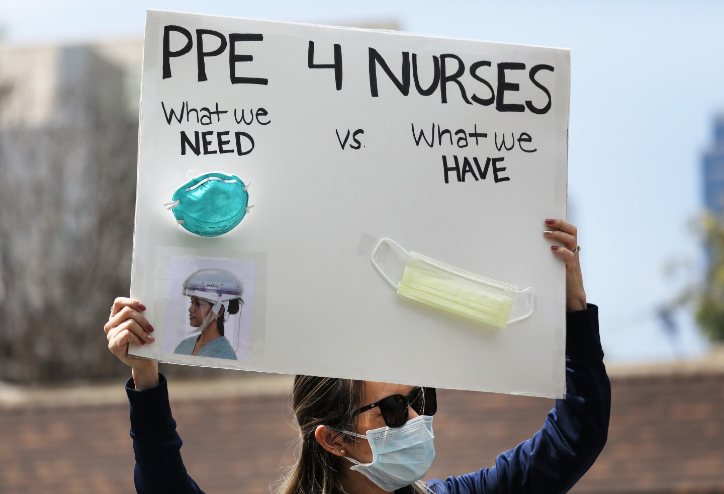 Nurses Protest At UCI Medical Center In CA About Lack Of Personal Protective Gear