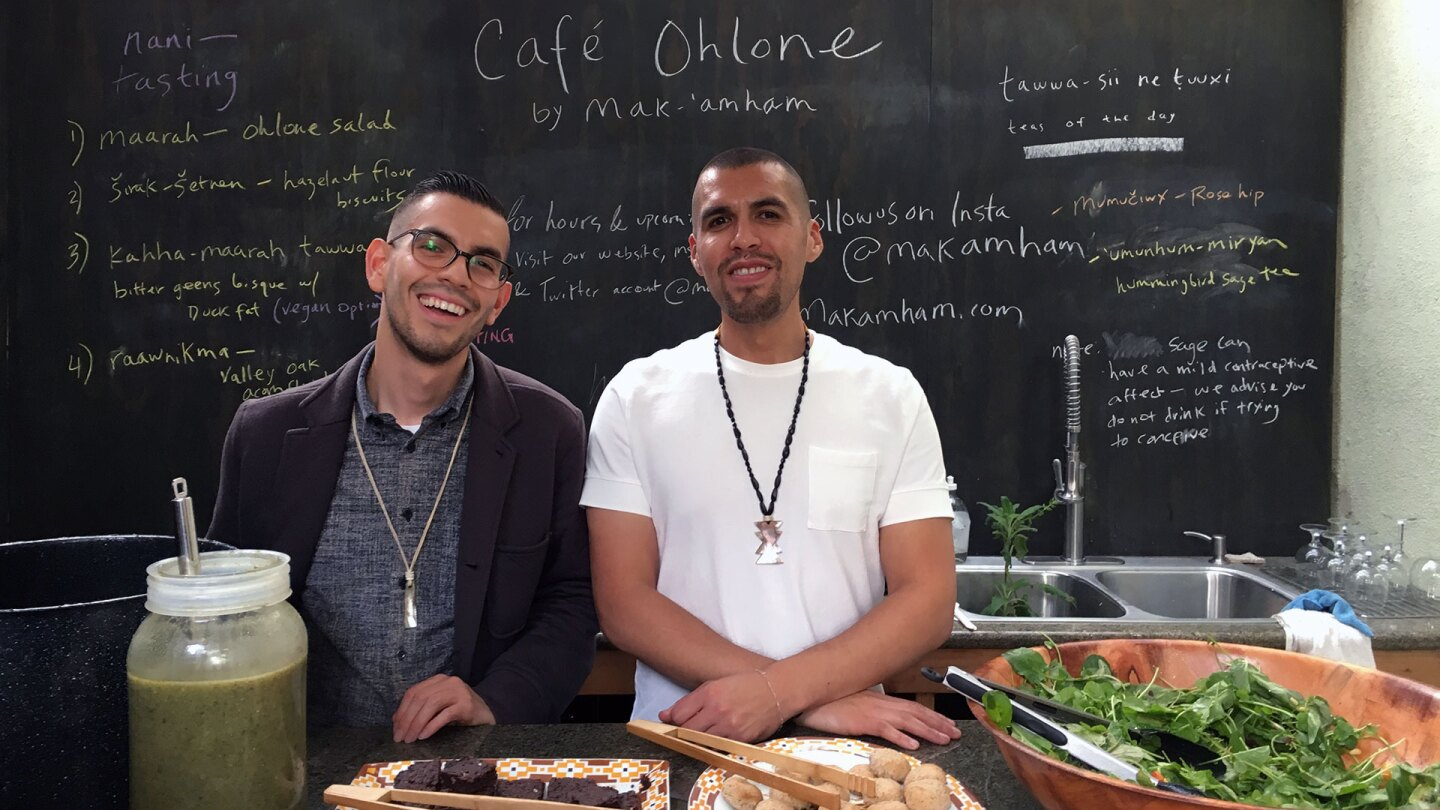 Louis Trevino (left) and Vincent Medina are the founders of mak-'amham and Café Ohlone. | Momo Chang