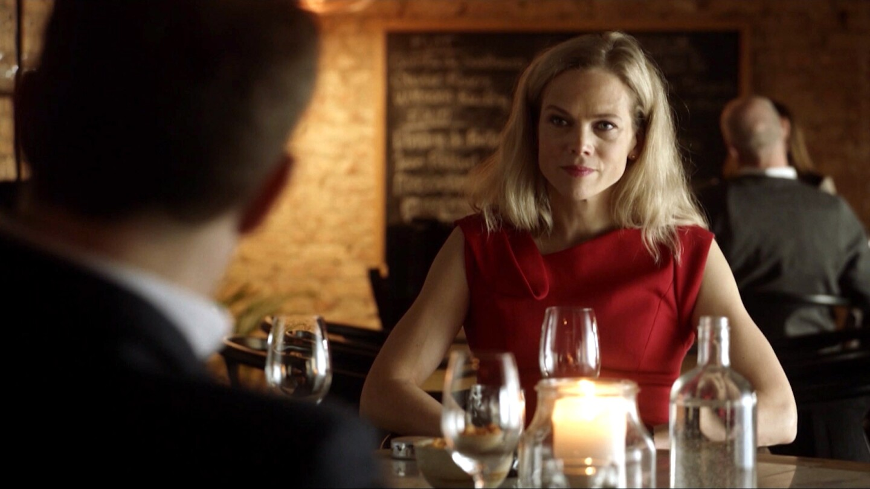 Helena at dinner.
