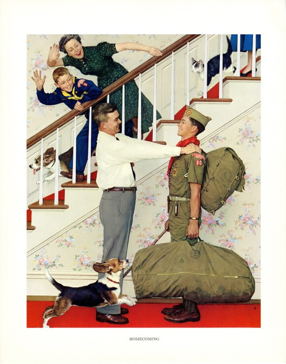 """""""Homecoming,"""" Norman Rockwell. 