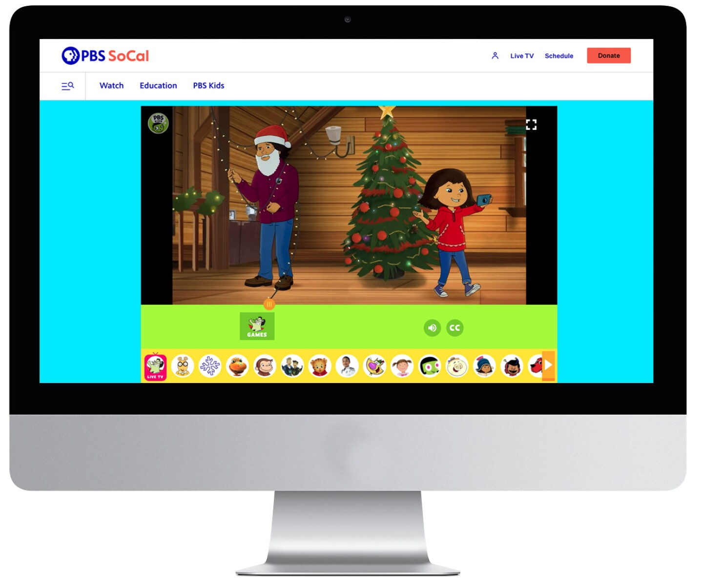 Kids page on pbssocal.org
