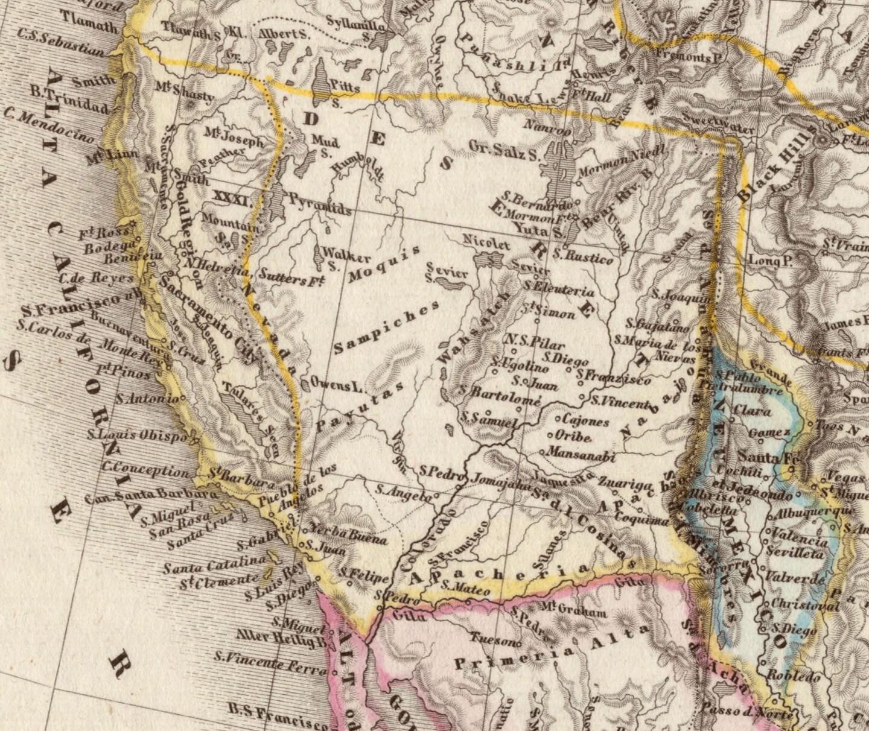1850 map of Deseret