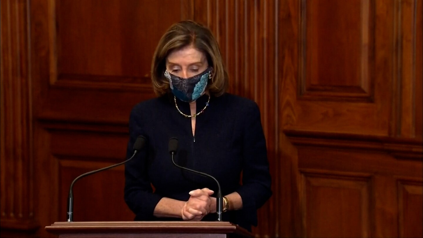 Nancy Pelosi announces the impeachment of Donald Trump.