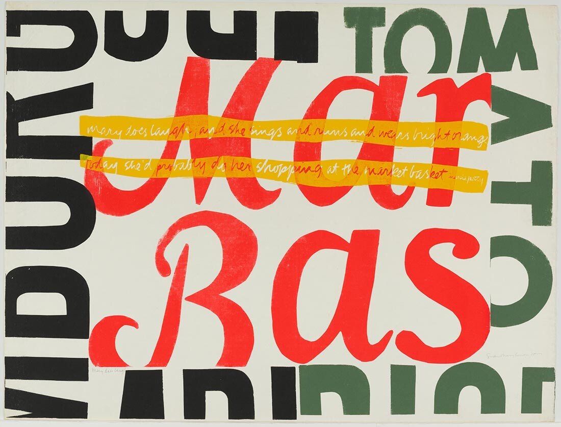 mary does laugh, 1964|Collection UCLA Grunwald Center for the Graphic Arts, Hammer Museum. Corita Kent Bequest.