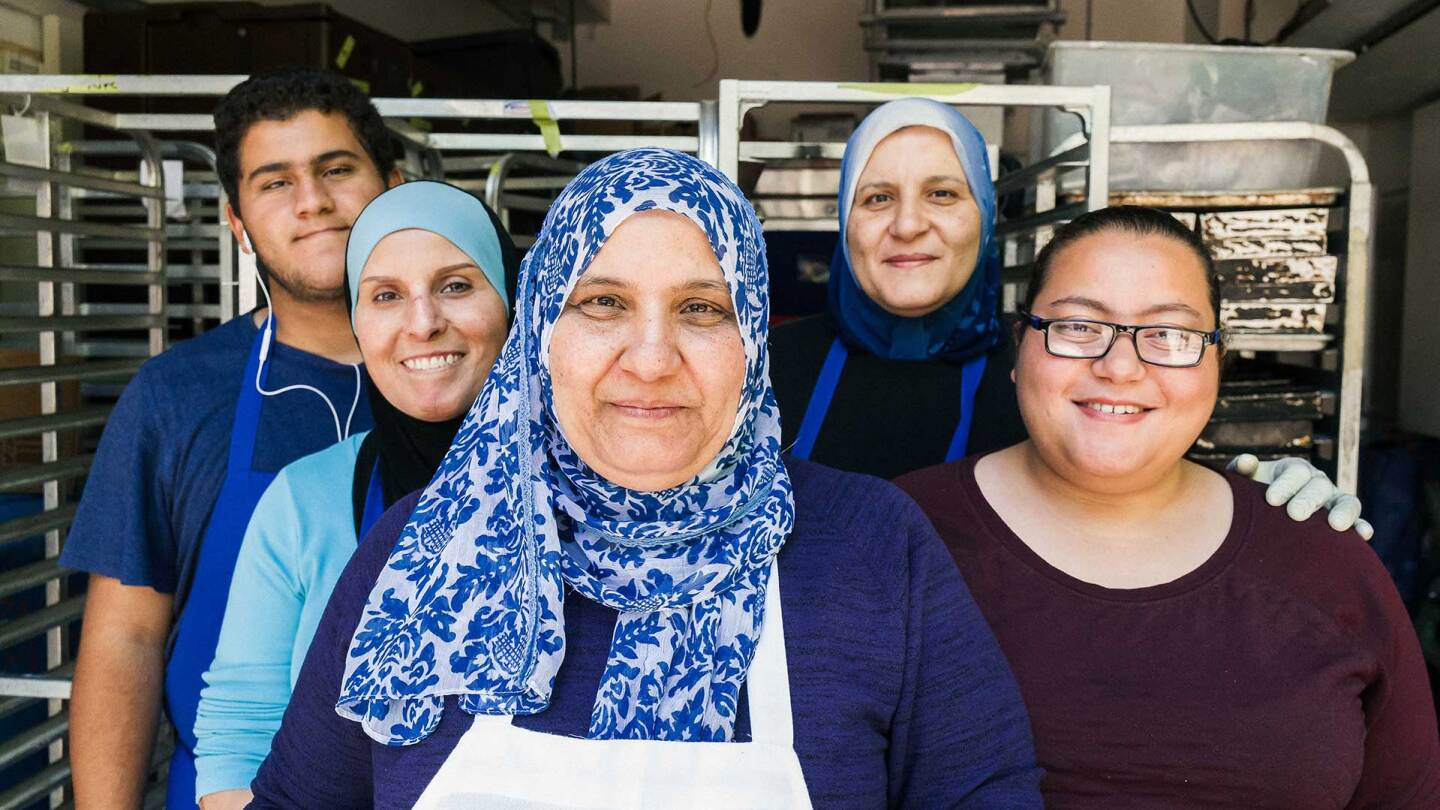 Lamees Dahbour and her family in La Cocina | Jim Sullivan