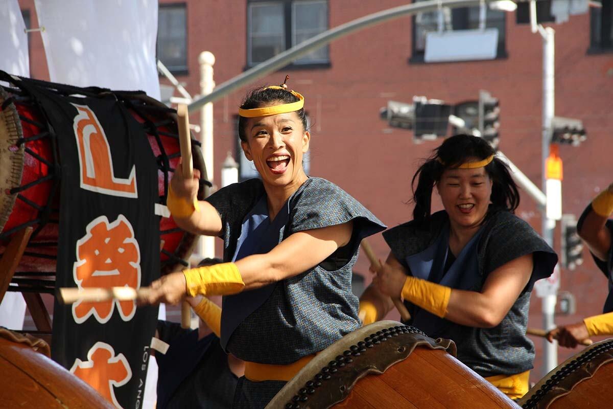 L.A. Matsuri Taiko drum group during 2016 Nishi Hongwanji Obon Festival | V.T. Polywoda/Flickr/Creative Commons (CC BY-NC-ND 2.0)